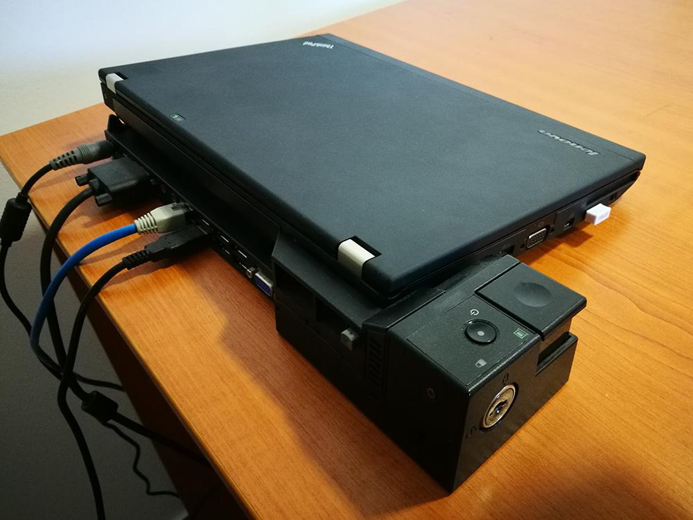 felújított business class notebook, Lenovo Thinkpad dokkoló